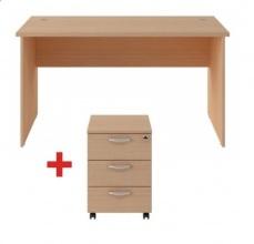 Zestaw biurko z kontenerem ZBK-140/18