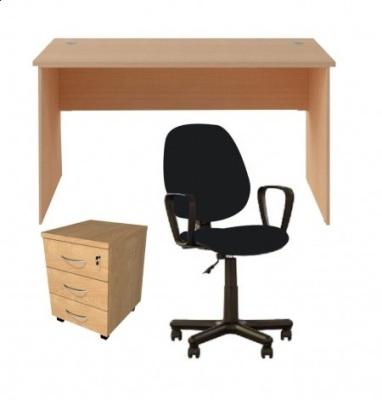 Zestaw Mini 140/18 biurko, fotel, kontener