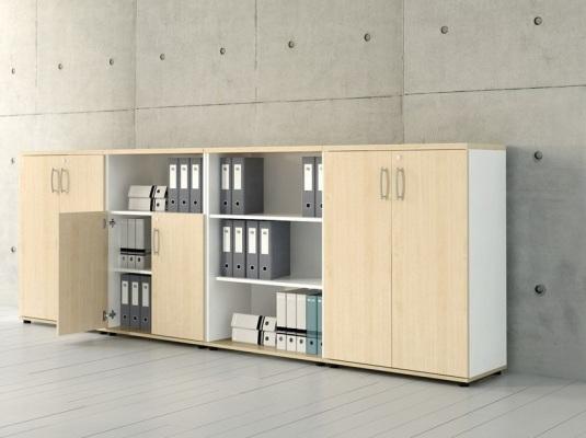 Zestaw szafek gabinetowych - nowoczesny, elegancki, pojemny!